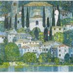 Grafika-00032 Gustav Klimt : Eglise de Cassone, 1913