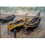 Grafika-00045 Claude Monet : Trois bateaux de Pêche, 1886