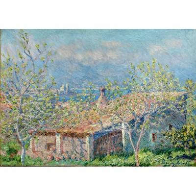 Grafika-00049 Claude Monet : La Maison du Jardinier à Antibes, 1888