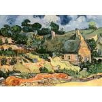 Grafika-00050 Vincent Van Gogh : Les chaumes de Cordeville, 1890