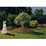 Grafika-00055 Claude Monet : Dame en Blanc au Jardin, 1867