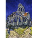 Grafika-00061 Vincent Van Gogh : L'église d'Auvers-sur-Oise, 1890