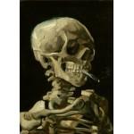 Grafika-00065 Vincent Van Gogh : Crâne de squelette fumant une cigarette, 1885
