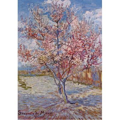 Grafika-00068 Vincent Van Gogh : Pêcher en fleur, Souvenir de Mauve, 1888