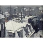 Grafika-00077 Gustave Caillebotte : Vue de toits (Effet de neige), 1878-1879