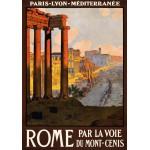 Grafika-00090 Affiche des Chemins de Fer - Rome par la voie du Mont-Cenis, 1920