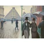 Grafika-00095 Gustave Caillebotte : Rue de Paris, Jour de Pluie, 1877