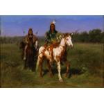 Grafika-00099 Rosa Bonheur : Indiens à cheval armés de lances, 1890