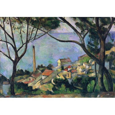 Grafika-00131 Paul Cézanne : Vue de l'Estaque