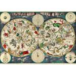 Grafika-00141 Frederik de Wit : Carte Céleste, XVIIe siècle