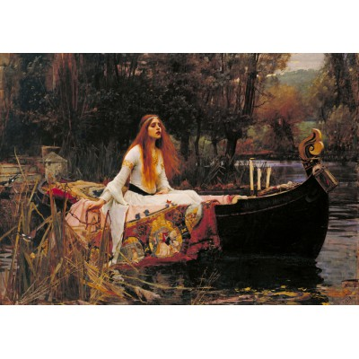 Grafika-00157 Waterhouse John William : The Lady of Shalott, 1888
