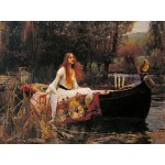 Grafika-00162 Waterhouse John William : The Lady of Shalott, 1888