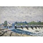 Grafika-00184 Alfred Sisley : Le  Déversoir de Molesey le Matin, 1874