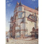 Grafika-00186 Alfred Sisley : L'Église de Moret, 1893