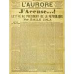 Grafika-00196 Une de l'Aurore du 13 Janvier 1898 - Emile Zola : J'accuse...!