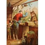 Grafika-00209 Carl Offterdinger : Le Loup et les sept Chevreaux, fin XIXe Siècle