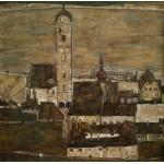 Grafika-00213 Egon Schiele : Stein sur le Danube II, 1913