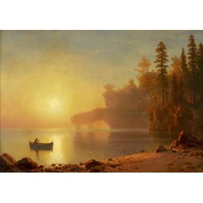 Grafika-00229 Albert Bierstadt : Canoë Indien, 1886