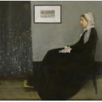 Grafika-00296 James Whistler : Whistler's Mother, 1871 (Arrangement in Grey and Black No.1)