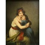 Grafika-00300 Elisabeth Vigée-Lebrun : Madame Vigée-Lebrun et sa fille, 1789