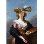 Grafika-00301 Elisabeth Vigée-Lebrun : Autoportrait au Chapeau de Paille, 1782