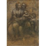 Grafika-00363 Léonard de Vinci : La Vierge, l'Enfant Jésus avec Sainte Anne et Saint Jean Baptiste