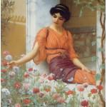Grafika-00367 John William Godward : Summer Flowers, 1903