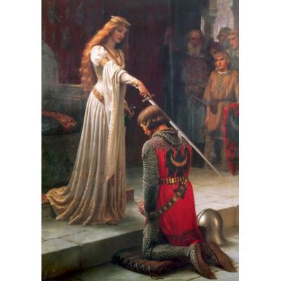 Grafika-00368 Edmund Blair Leighton : L'Adoubement, 1901
