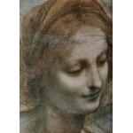 Grafika-00375 Léonard de Vinci : La Vierge, l'Enfant Jésus avec Sainte Anne et Saint Jean Baptiste (détail)