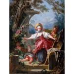 Grafika-00391 Jean-Honoré Fragonard : Le colin-maillard, 1750-1752