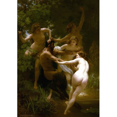 Grafika-00396 William Bouguereau : Les Nymphes et le Satyre, 1873