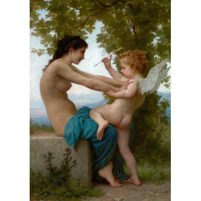 Grafika-00399 William Bouguereau : Jeune fille se défendant contre Éros, 1880