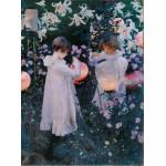 Grafika-00411 John Singer Sargent : Carnation, Lily, Lily, Rose, 1886