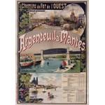 Grafika-00423 Affiche Chemins de Fer : Argenteuil-Mantes, 1893