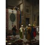 Grafika-00450 Jean-Léon Gérôme : Marchand de Tapis au Caire, 1887