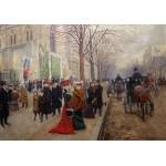 Grafika-00454 Jean Béraud : Après l'office à l'Eglise de la Sainte-Trinité, 1900