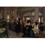 Grafika-00455 Jean Béraud : La Pâtisserie Gloppe sur les Champs-Élysées - Paris, 1889