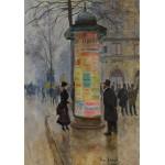 Grafika-00456 Jean Béraud : La Colonne Morris, 1885