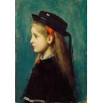 Grafika-00457 Jean-Jacques Henner : Fille Alsacienne, 1873