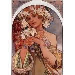 Grafika-00497 Alfons Mucha : La Fleur, 1897