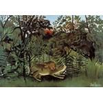Grafika-00498 Henri Rousseau : Le Lion ayant Faim se jette sur l'Antilope, 1905
