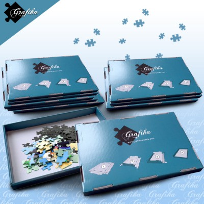Grafika-00504 Lot de 10 Boites de Tri Bleues - 24 x 22 x 2.5 cm
