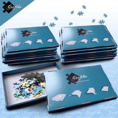 Grafika-00506 Lot de 20 Boites de Tri Bleues - 24 x 22 x 2.5 cm