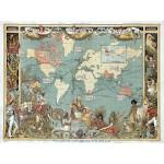 Grafika-00507 Walter Crane : L'Empire Britannique en 1886