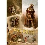 Grafika-00510 Affiche pour une production Américaine de Macbeth, avec Thomas W. Keene, 1884