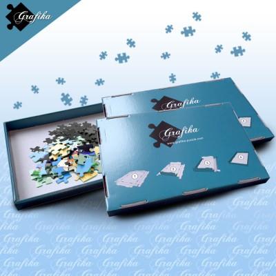 Grafika-00572 Lot de 3 Boites de Tri Bleues - 24 x 22 x 2.5 cm