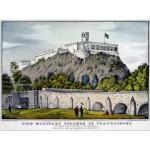Grafika-00573 Affiche Currier & Ives : Collège Militaire de Chapultepec , 1847