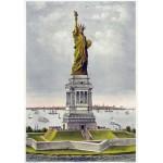 Grafika-00580 Affiche Currier & Ives : La Statue de Bartholdi, la Liberté éclairant le Monde, 1885
