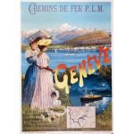 Grafika-00608 Affiche pour les Chemins de Fer P.L.M. : Paris - Genève , 1895