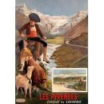 Grafika-00609 Affiche pour Les Chemins de Fer P.L.M : Les Pyrénées - Le Cirque de Gavarnie , XIXè Siècle